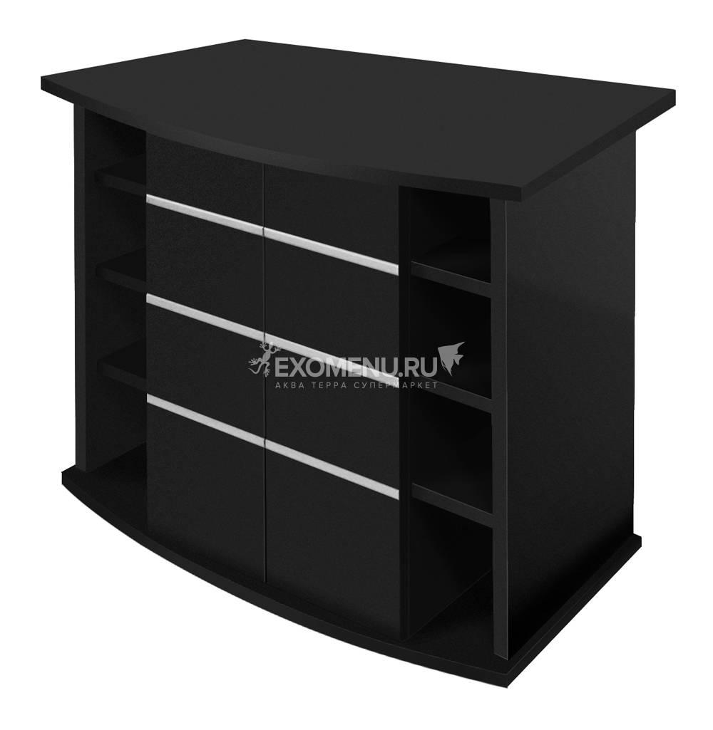 Подставка без дверок  ALTUM PANORAMIC 135/ CRYSTAL PANORAMIC 145 (чёрная шагрень) влагостойкая плита