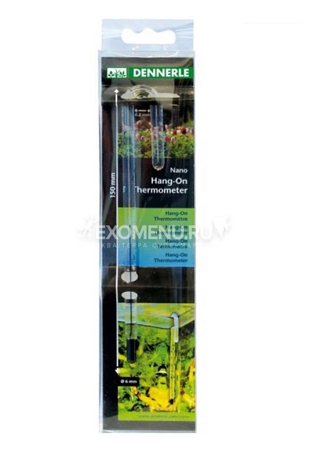 Стеклянный термометр Dennerle Nano HangOn Thermometer, подвешивается на стенку аквариума