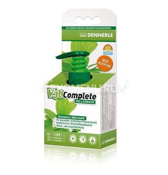 Dennerle V30 Complete - Полное комплексное удобрение для всех аквариумных растений, 500 мл на 1600 л