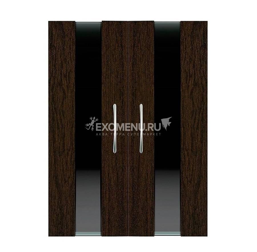 Дверки Ф-240 для подставки РИФ 80/ ПАНОРАМА 80/100/ ДИАРАМА 200 (венге+ темное стекло) плита ЛДСП 16