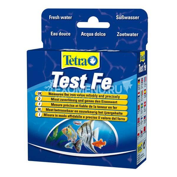 Тест для определения показателей качества воды на железо Tetra test Fe 10 ml пресн/море  756496