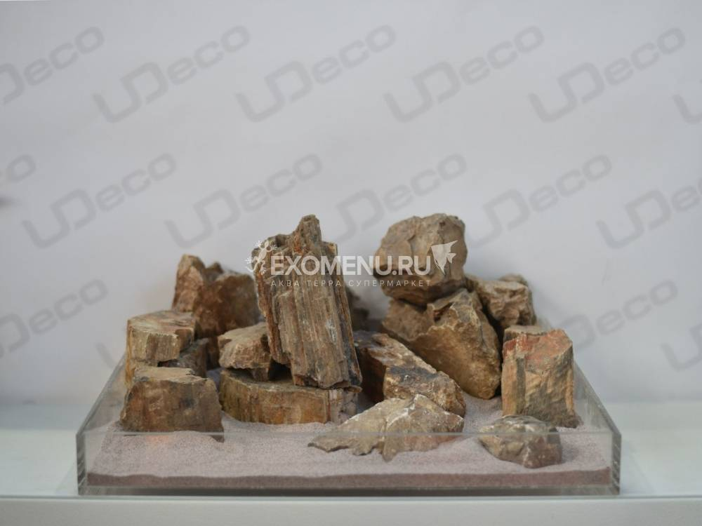 UDeco Fossilized Wood Stone MIX SET 15 - Натуральный камень