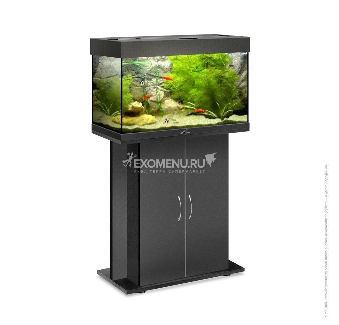 Аквариум Biodesign РИФ 80, 82 л, черный, 71х33х46 см