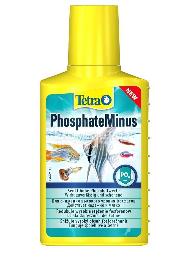 Средство Tetra  PhosphateMinus  100 ml снижает уровень фосфатов (PO4).