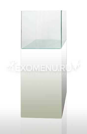 Тумба Blau Cabinet белая 45х45х80см +дверка 45х80см для аквариума blau cubic 91k