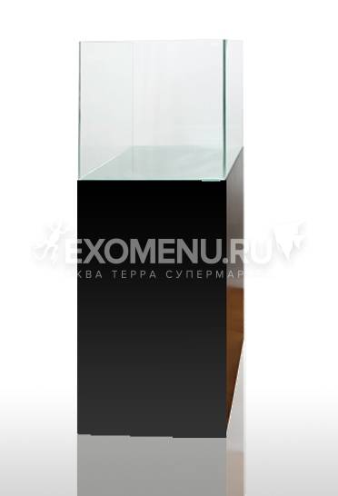 Тумба Blau Cabinet черная 45х45х80см +дверка 45х80см для аквариума blau cubic 91k