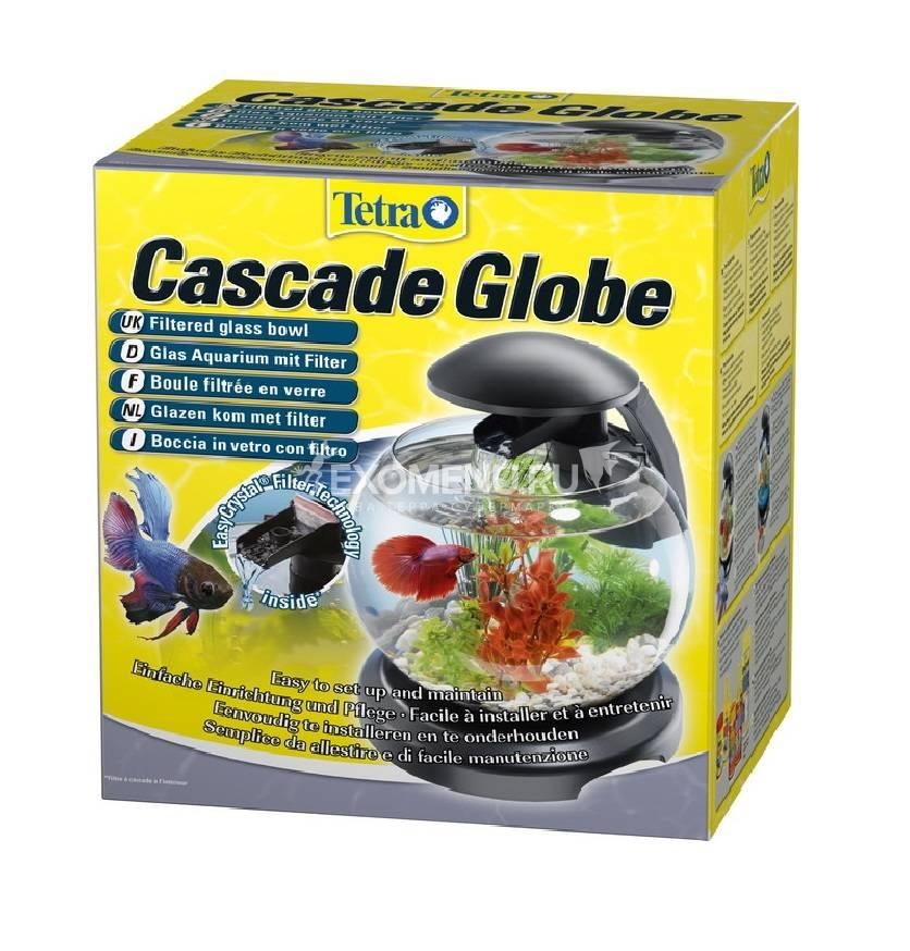 Аквариум  Tetra Cascade Globe 6.8l ЧЕРНЫЙ  - Круглый аквариум (Диаметр 27.9)