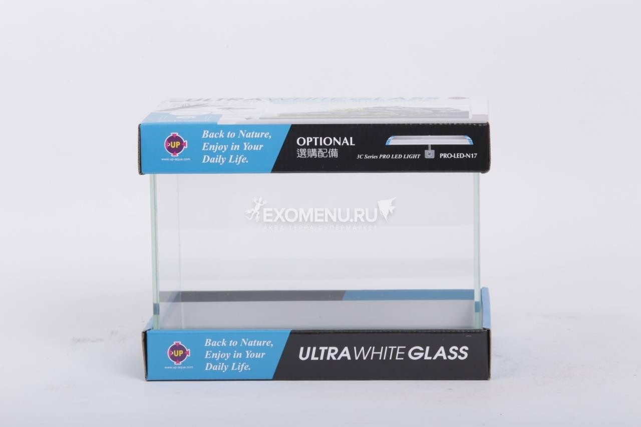 UpAqua Crystal Glass Tank S Аквариум Ultra White, малый 9 л