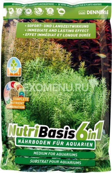 Dennerle NutriBasis 6in1 - Грунтовая подкормка для аквариумных растений, пакет 9,6 кг для аквариумов 160-250 л фото