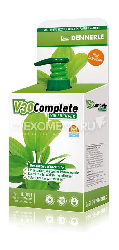 Dennerle V30 Complete - Полное комплексное удобрение для всех аквариумных растений, 250 мл на 8000 л