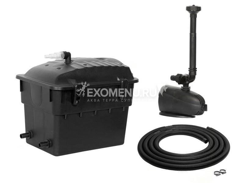 Прудовой комплект Klar Jet  5000 фильтр, помпа с фонтанной насадкой, UV стерилизатор, шланг -для пруда объемом 5000л