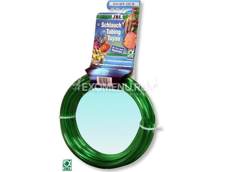 JBL Aquarium tubing GREEN 12/16 - Гибкий шланг для воды, прозрачный зеленый, 2,5 м, на подвесе