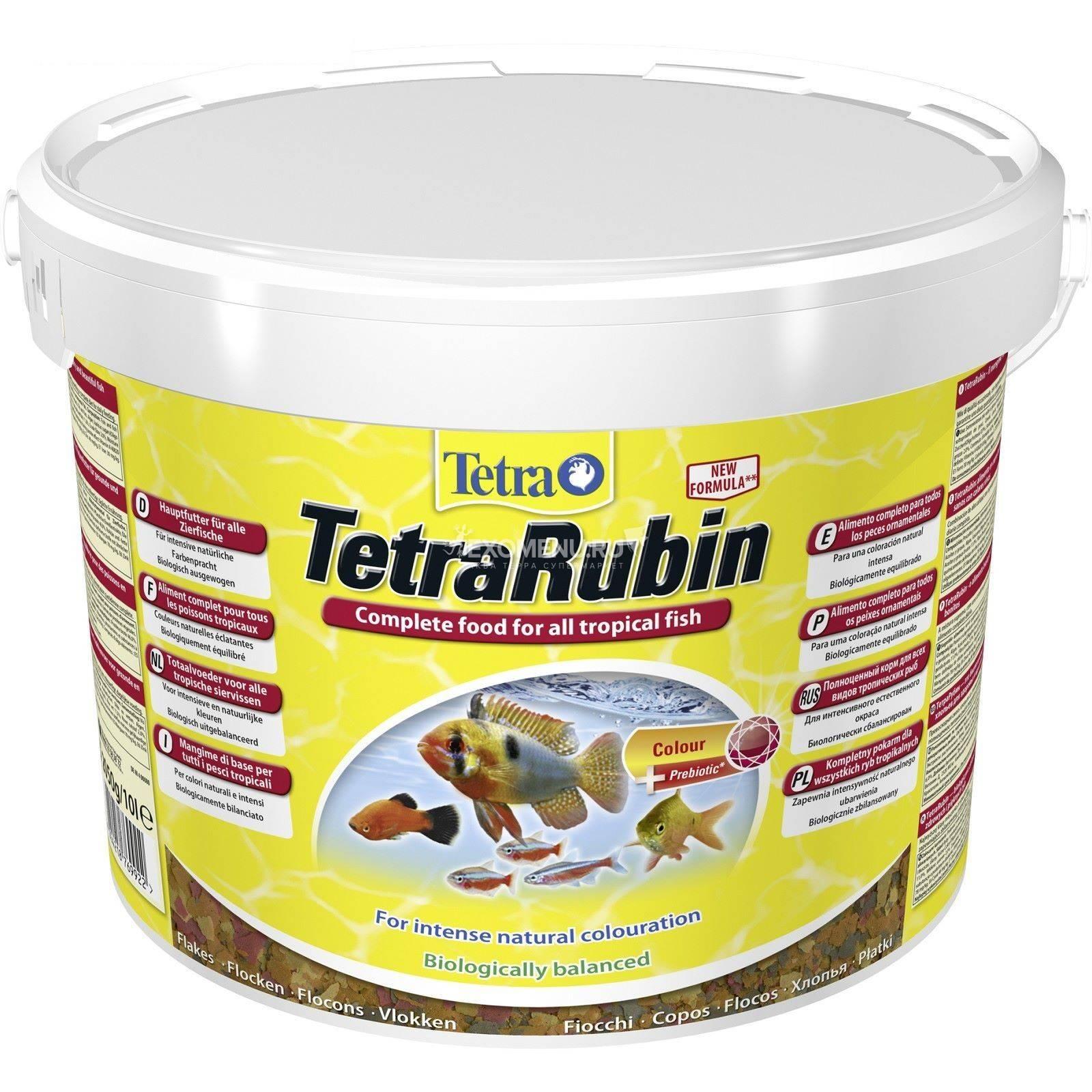 Корм для усиления насыщенности окрасаTetra Rubin 10 l хлопья.