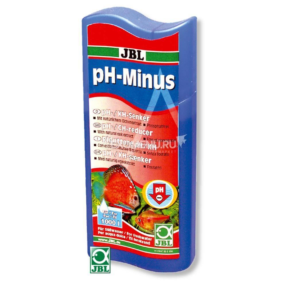 JBL pH-Minus - Кондиционер для снижения рН в пресноводных аквариумах, 250 мл, на 1000 л