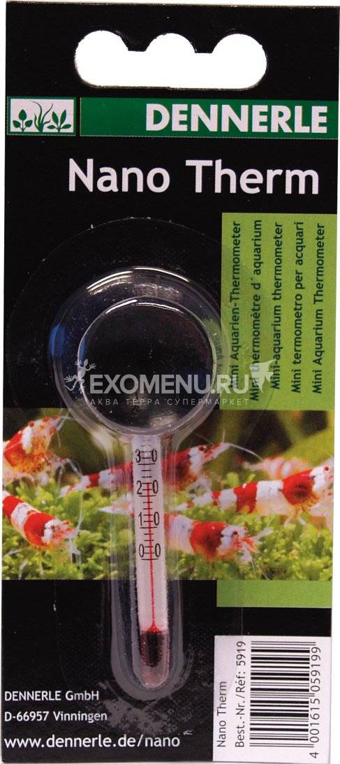 Термометр Dennerle Nanotherm для мини-аквариумов, 6,5 см.