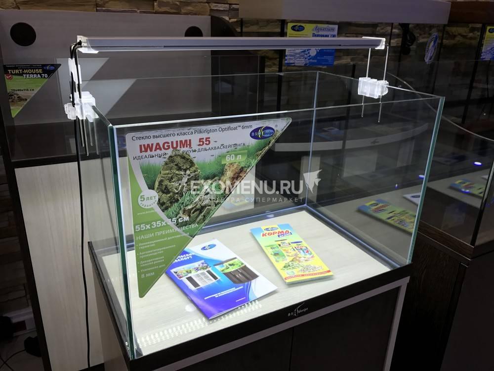 Аквариум Biodesign IWAGUMI 70, 100 л, для акваскейпинга, 70х40х40 см