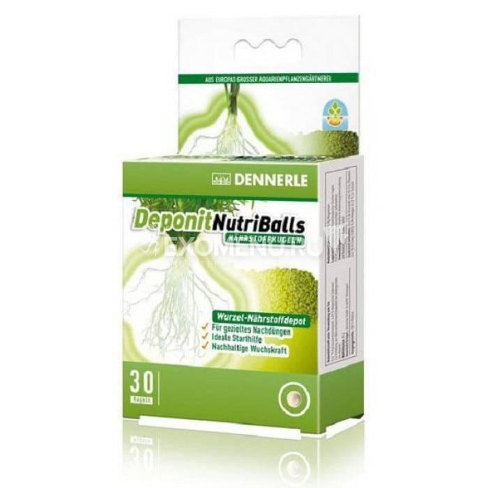 Dennerle Deponit NutriBalls - Корневое удобрение в виде шариков для любых аквариумных растений, 30 шт. на 8-30 растений