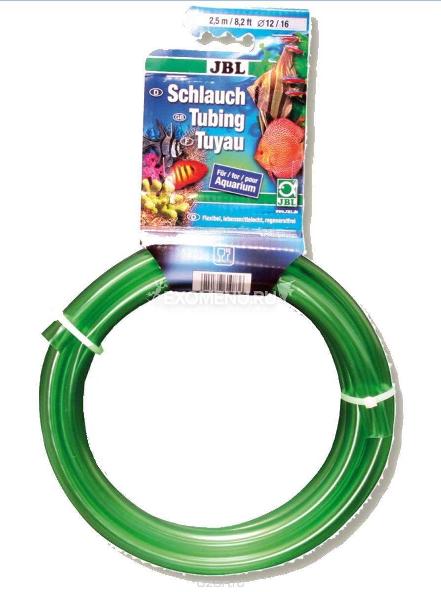 JBL Aquarium tubing GREEN 9/12 - Гибкий шланг для воды, прозрачный зеленый, 2,5 м, на подвесе