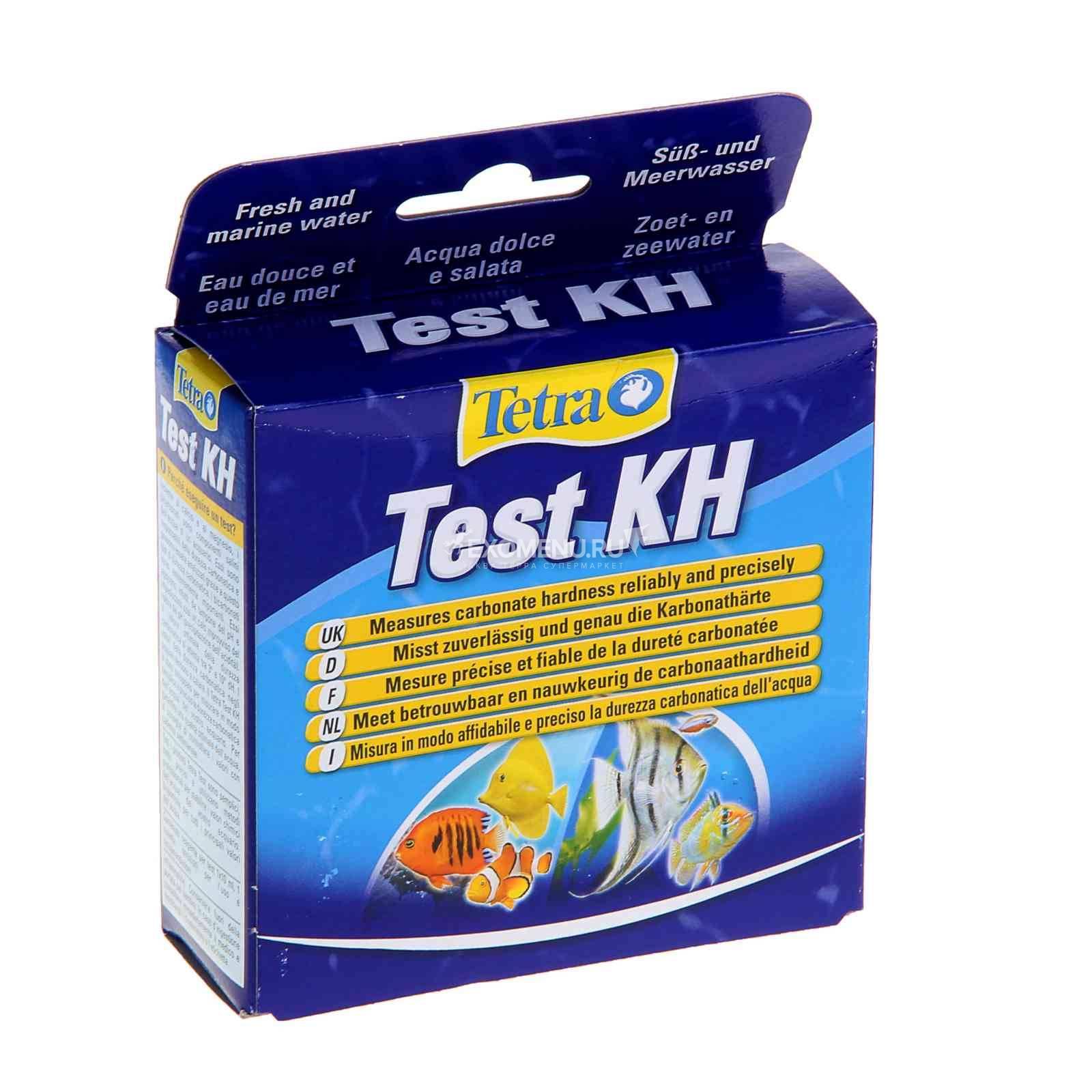 Тест для определения показателей качества воды на карбонатную жесткостьTetra test KH  10 ml пресн/море  723559