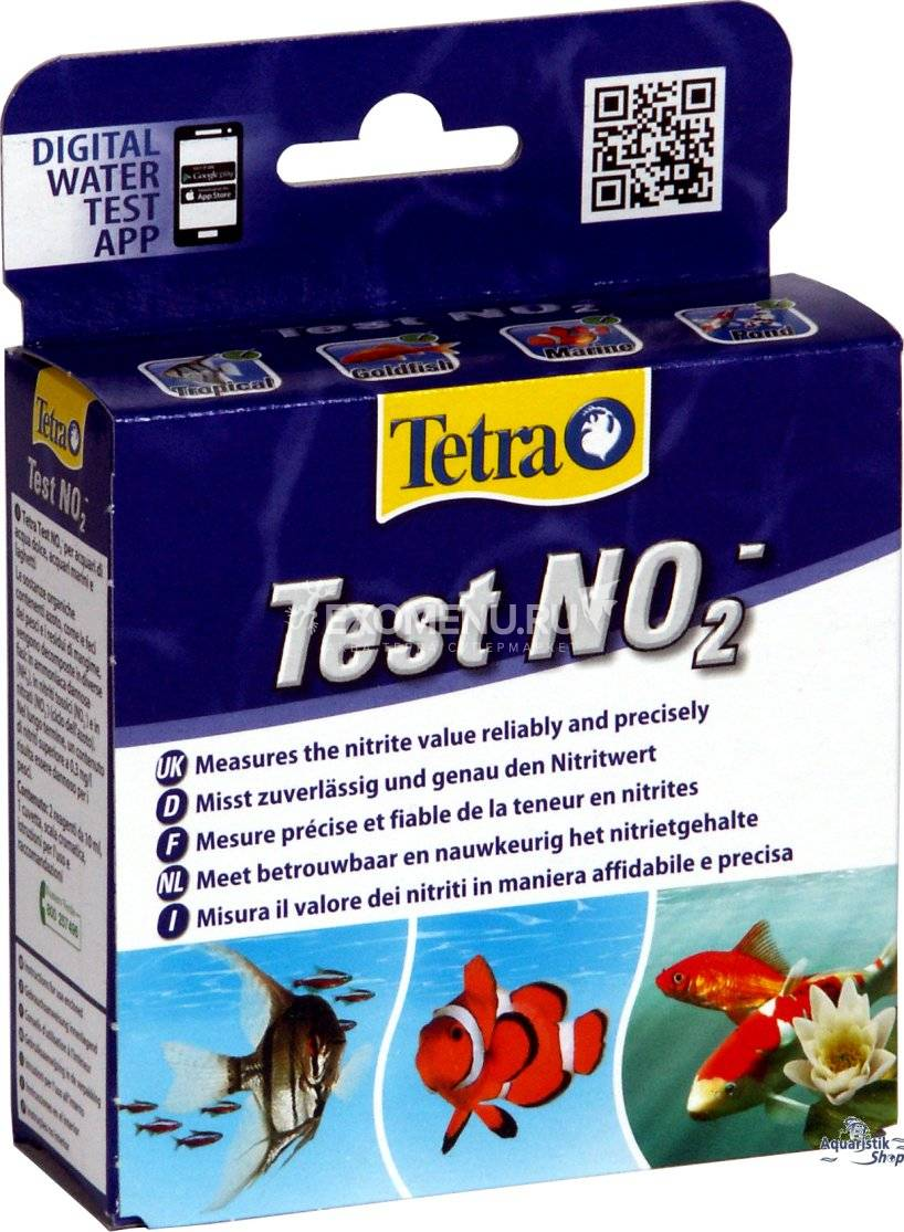 Тест на нитриты Tetra test Nitrit NO2 2*10ml  723429