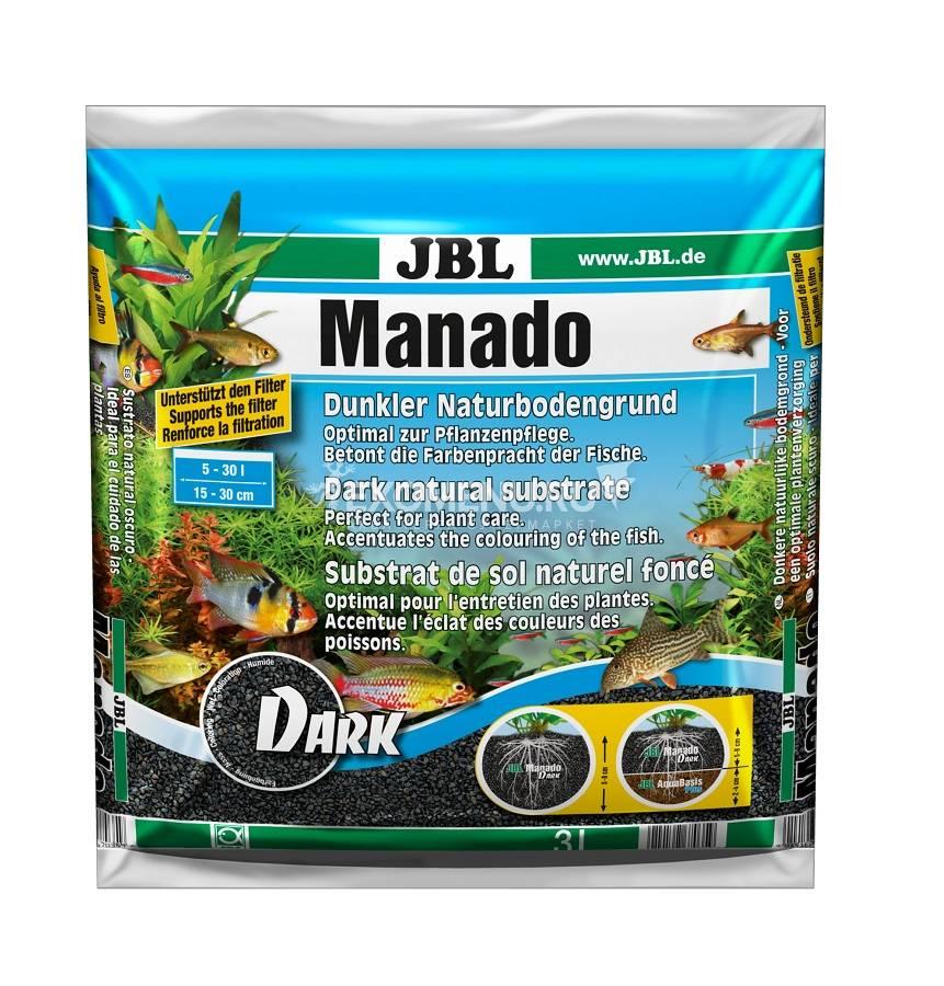 JBL Manado DARK - Темный натуральный субстрат для аквариумов, 3 л