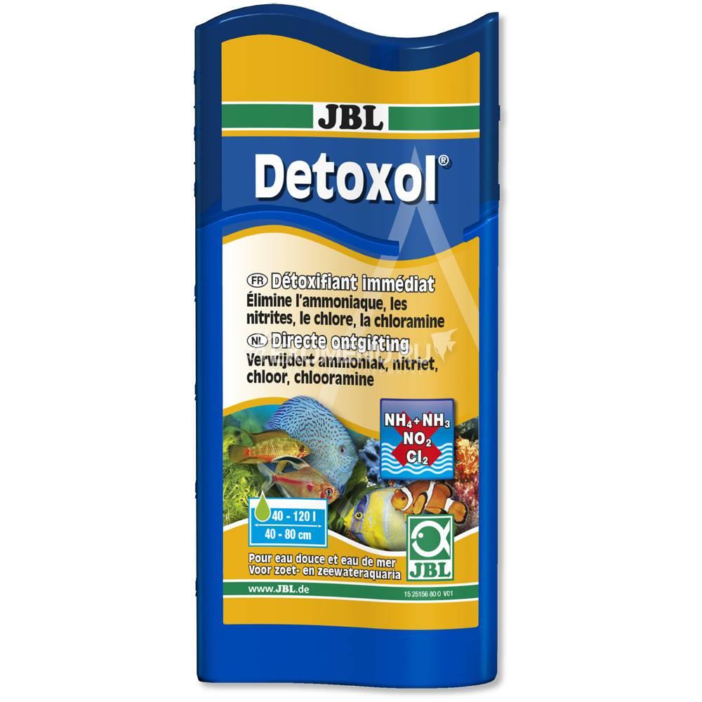 JBL Detoxol - Препарат для быстрой нейтрализации токсинов в аквариумной воде, 100 мл, на 400 л