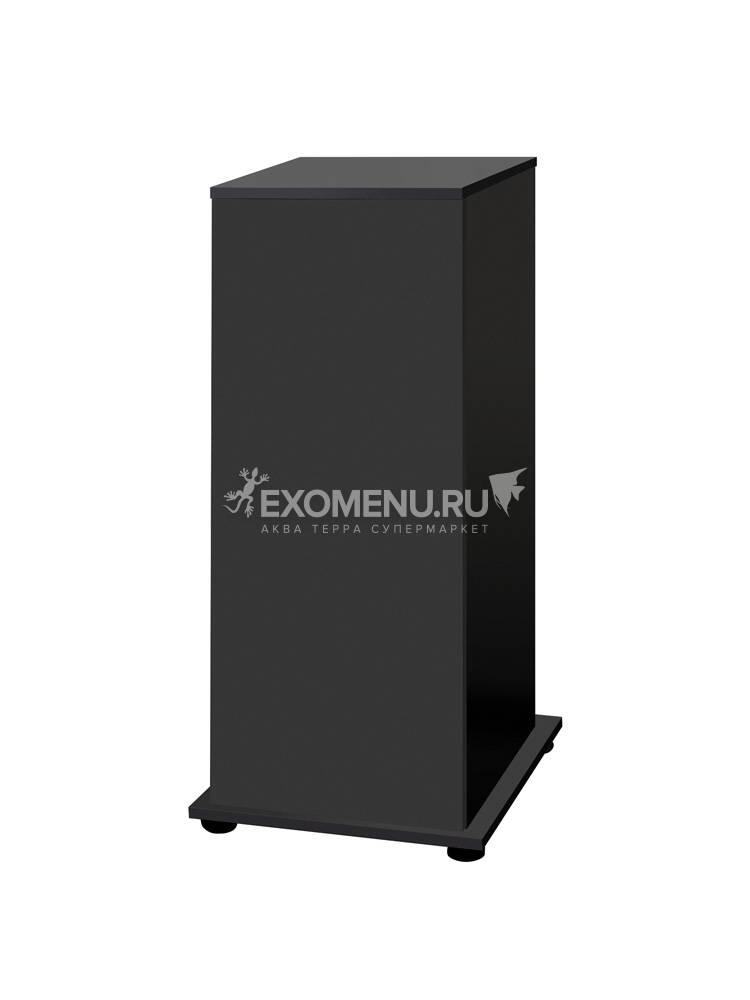 Подставка с дверкой Q-SCAPE OPTI 50(черная шагрень)влаг.ЛДСП16мм кр.ПВХ 0,45/1мм 43*43*98см довод