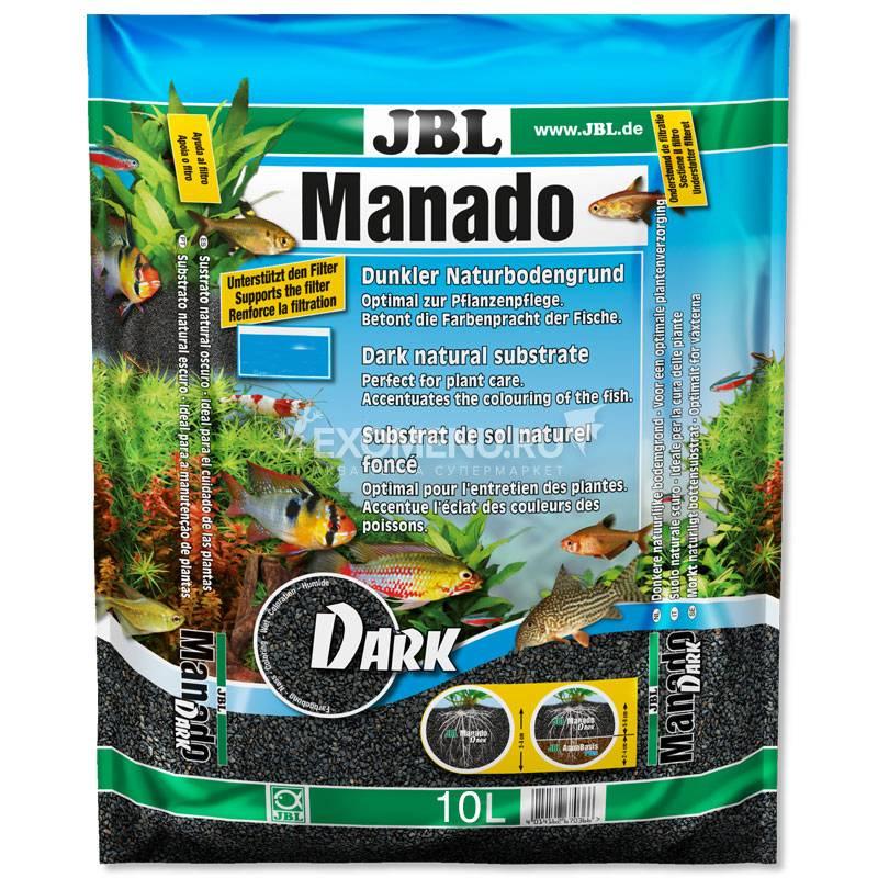 JBL Manado DARK - Темный натуральный субстрат для аквариумов, 10 л фото