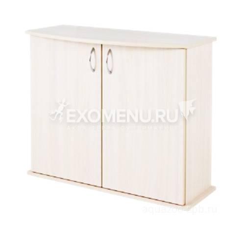 Пoдставка фигурная 70 (710*360*720) две дверки ДСП, белое дерево, в коробке, модель 2016