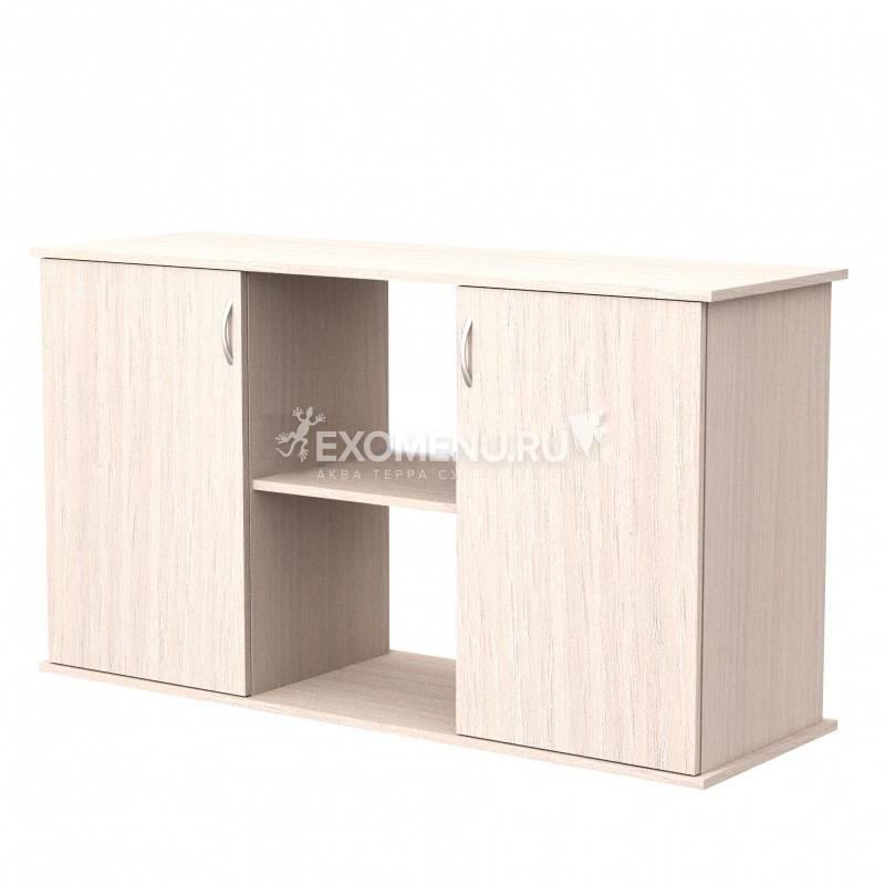 Пoдставка 100 (1010*410*720) две дверки ДСП, выбеленный дуб, в коробке, модель 2016