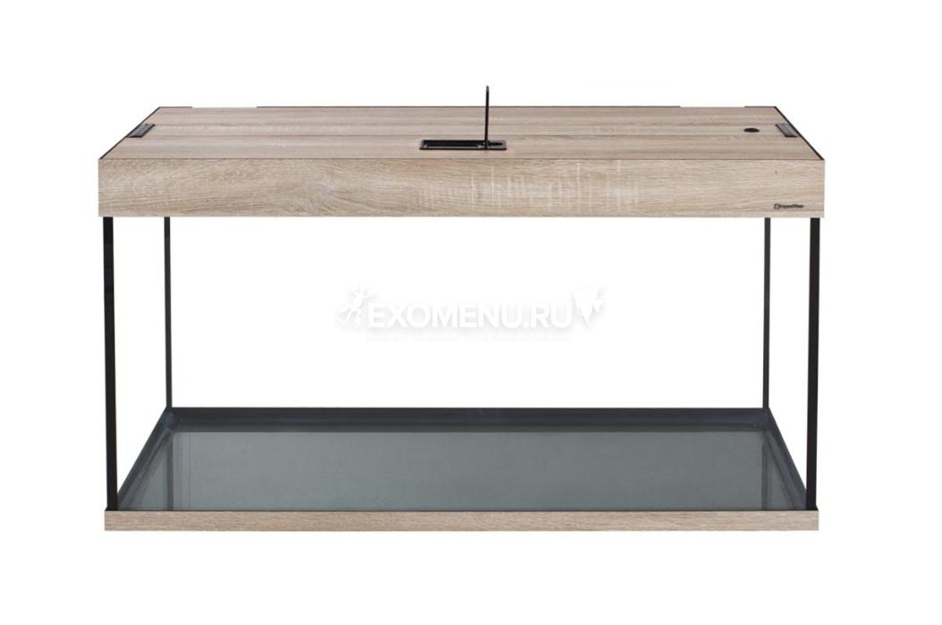 Аквариум AquaPlus 100 (700х300х560-6), 96 л. прямоугольный со светильником LUX 2х18Вт,   дуб сонома