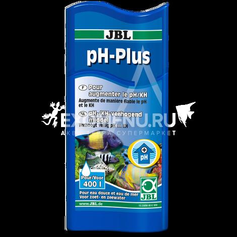 JBL pH-Plus - Кондиционер для повышения рН в пресноводных и морских аквариумах, 100 мл, на 400 л