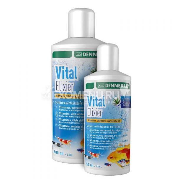 Dennerle Vital Elixier - Микроэлементы и витамины для пресноводных аквариумных рыб, 250 мл на 1250 л