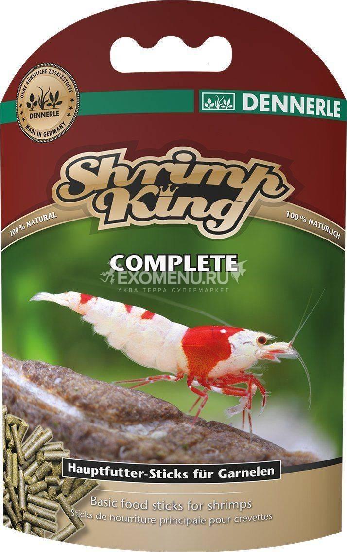 Dennerle Shrimp King Complete - Основной корм премиум-класса в форме палочек для креветок, 45 г