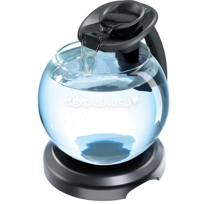 Аквариум Tetra Duo WaterFall Globe 6.8l, черный, диаметр 27,9 см