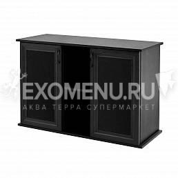 Пoдставка 100 (1010*410*720) две дверки МДФ со стеклом, черная, собранная, модель 2016 фото