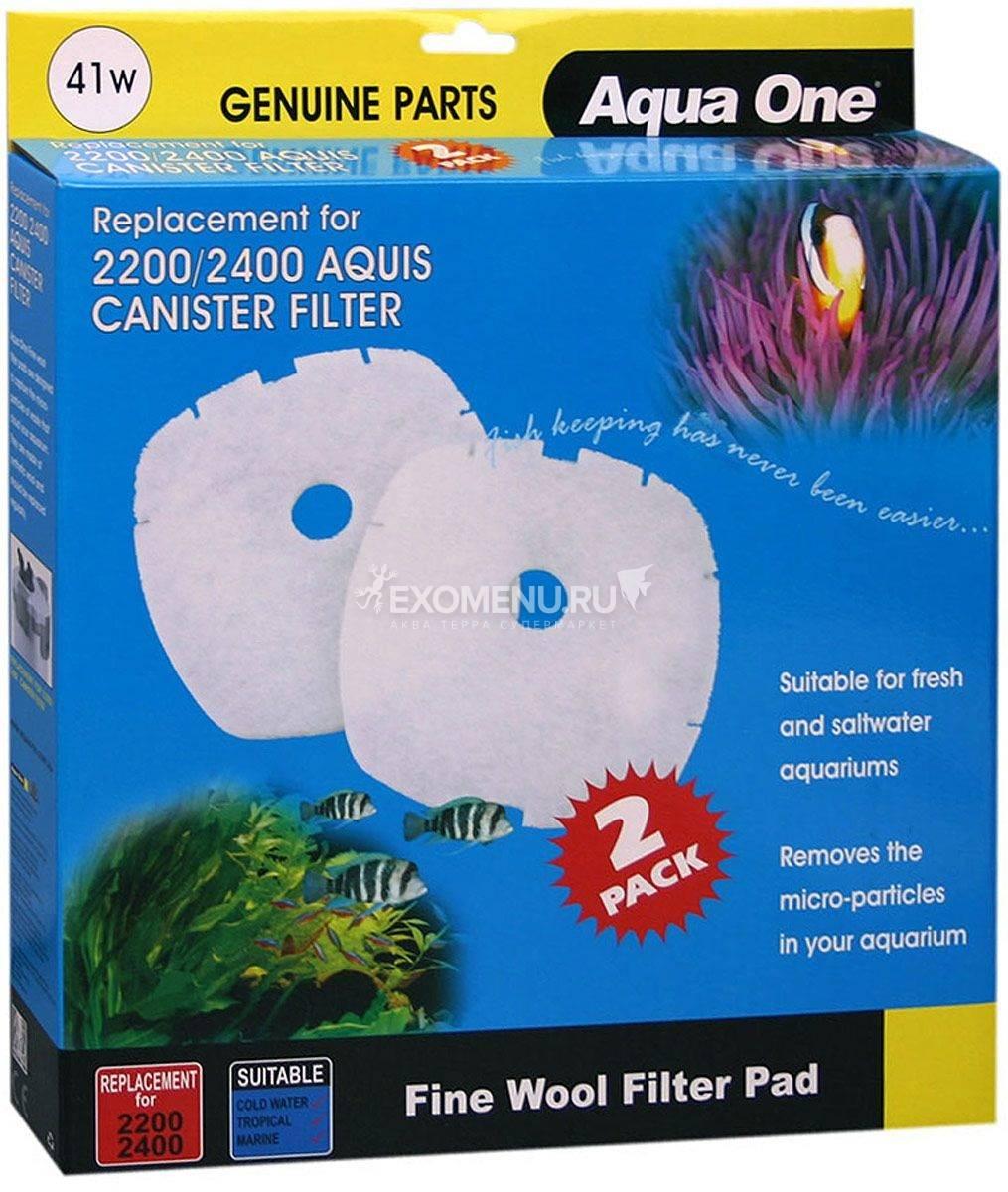 Aqua One Wool Pad 41w - Синтепон для внешних фильтров Nautilus 2700, 2 шт