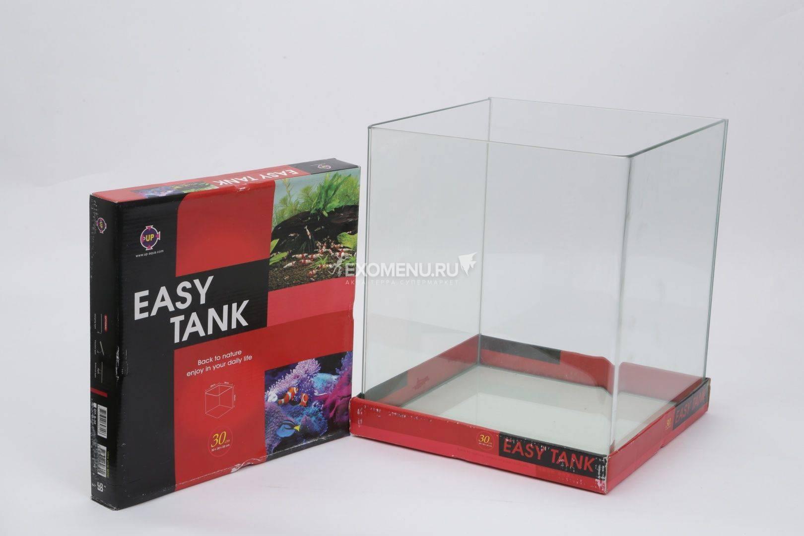 Аквариум UpAqua Easy Tank S 30, 31 л, с изогнутой передней стенкой из обычного стекла, 30х30х35 см