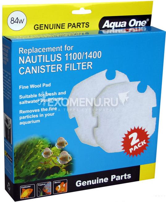 Aqua One Wool 84w - Синтепон для внешних фильтров Nautilus 1100/1400