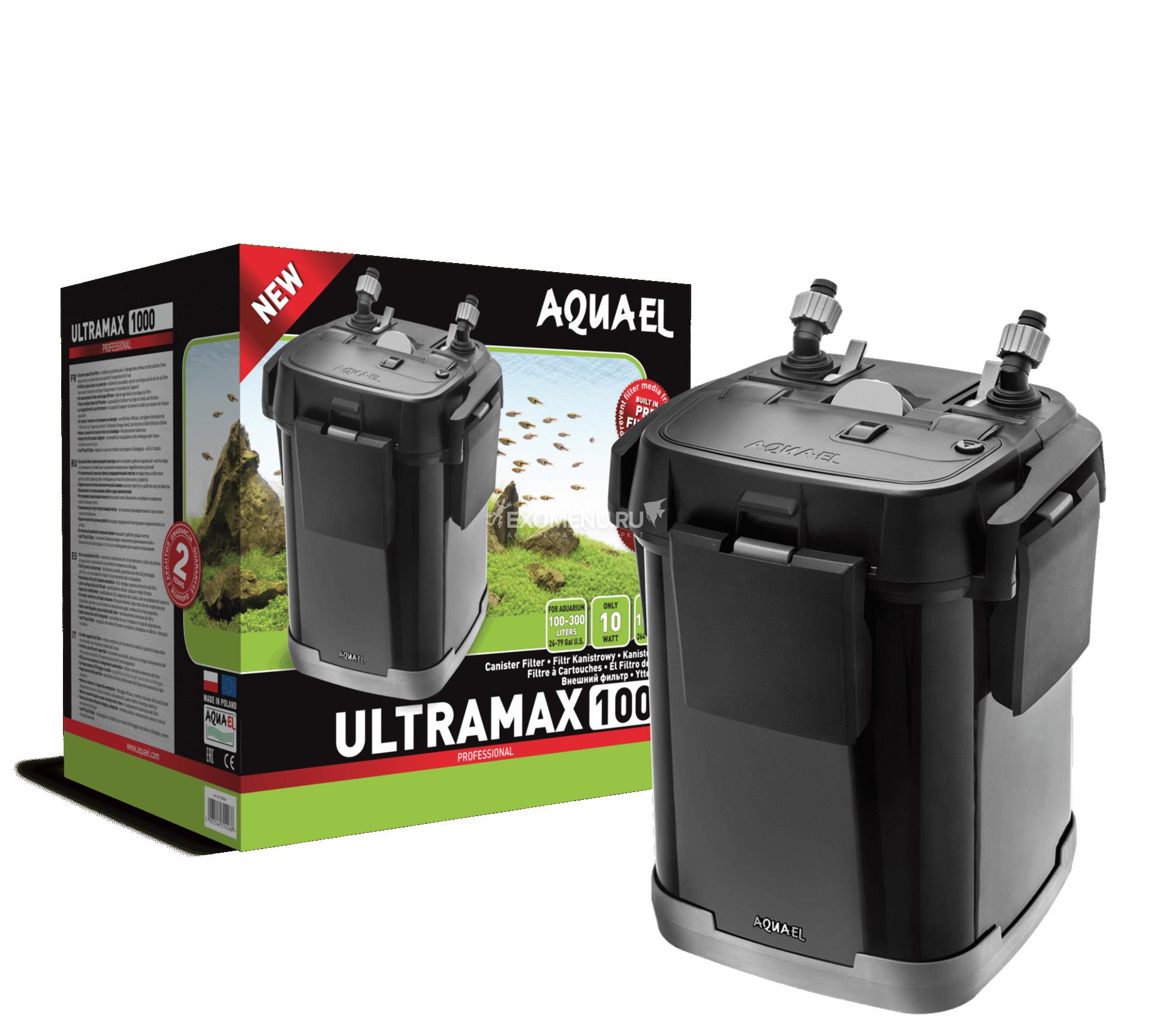 Внешний фильтр AQUAEL ULTRAMAX 1000, 1000 л/ч.,100-300 л