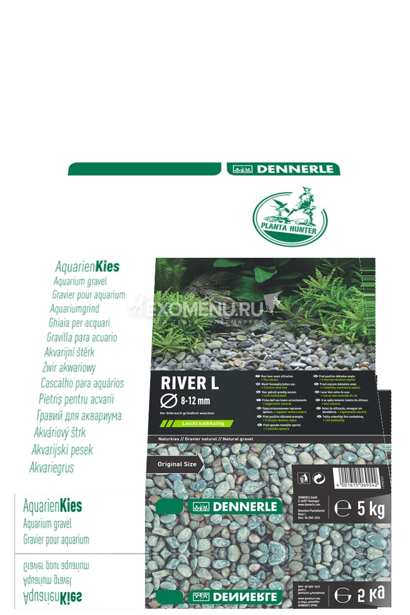 Натуральный гравий для аквариума Dennerle Nature Gravel PlantaHunter River L, 8-12 мм