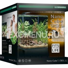 Dennerle NanoCube Complete+ 30 Style LED M - Нано-аквариум с расширенным комлектом для установки и светильником Nano Style LED M, 30x30x35 см, 30 л