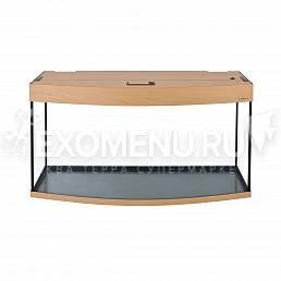 Аквариум AquaPlus 170 (1000х400х560-6/8) фигурный со светильником LUX 2х30Вт. бук