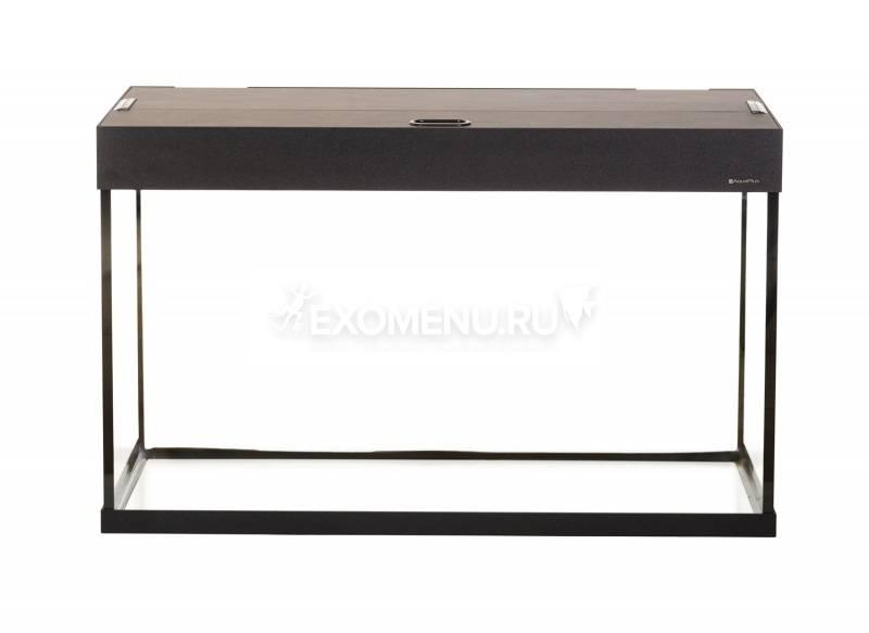 Аквариум AquaPlus LUX LED П150 черный (900х350х560-6) прямоугольный,150 л., со светодиодным модулем AQUAEL LEDDY TUBE Retro Fit Sunny 2х16 W