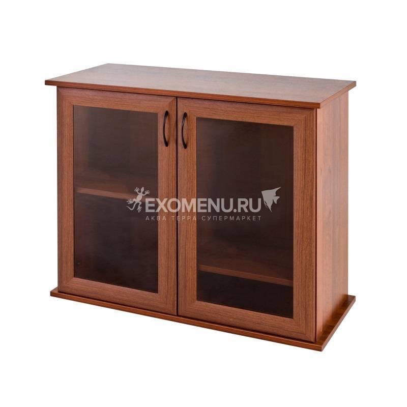Подставка AquaPlus 80 (810*360*720) две дверки МДФ со стеклом, орех, собранная