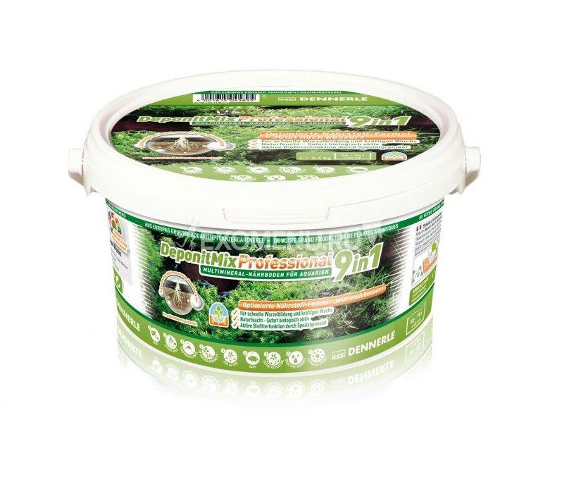 Dennerle DeponitMix Professional 9in1 - Профессиональная грунтовая подкормка для аквариумных растений, ведро 2,4 кг на 50-70 л фото