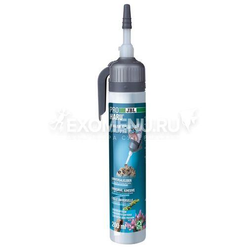 JBL ProHaru Universal - Универсальный клей для аквариумов, террариумов и прудов, черный, 200 мл