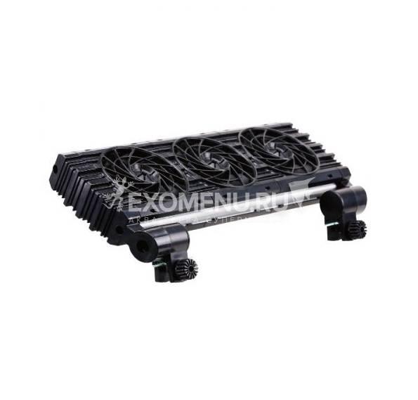 Вентилятор тройной 12В 301х132х39 мм бесшумный для охлаждения на 3-5 С.